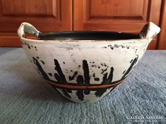 Gorka Lívia kerámia,jelzett nagy kaspó - ceramic bowl signed