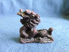 Régi kis sárkány dísz 6,5 x 6 cm