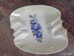 Antik, irizáló porcelán hamutartó, hamuzó, 15,5 x 13 cm