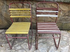 2 db RETRO kerti szék együtt eladó, csak átfesteni kell (p)