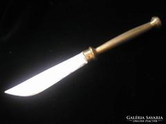 Antik ezüstözött levélbontó réz nyelű