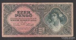 1000 pengő 1945.  NAGYON SZÉP!!!