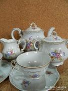 Zsolnay 6 személyes  teás készlet.