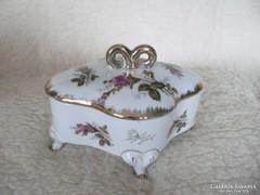 Rózsás porcelán bonbonier