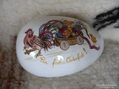 Porcelán tojás alakú bonbonier, dísztárgy