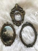 Három antik réz barokk keret eladó gyűjtőknek