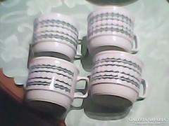 Zsolnay teás csésze 4 darab