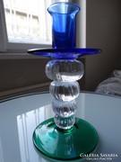 Cseh kristály gyertyatartó, iparművész által tervezett