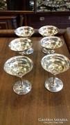 Ezüst 6 személyes pezsgőspohár készlet