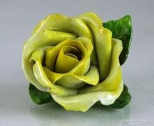 0K213 Régi Herendi porcelán sárga rózsa 1942