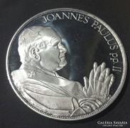 155g 999-es Ag. 6.5cm II.János Pál Pápa Emlékérem.....