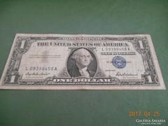 1957 D / Ezüst Certificate 1 Dollár