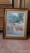 Nagyon szép akvarell, Horn A.  1918. jelzéssel.