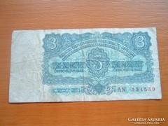 CSEHSZLOVÁKIA 3 KORONA 1961 AN