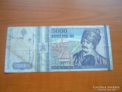 ROMÁNIA 5000 LEI 1993
