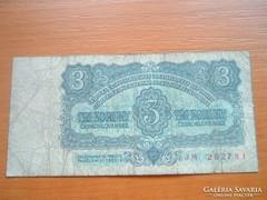 CSEHSZLOVÁKIA 3 KORONA 1961 JM