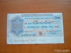 OLASZ 100 LÍRA 1977 CSEKK