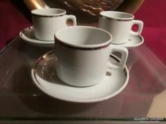3 db   Picco ezüstözött mokkás csésze és kistányér 0423