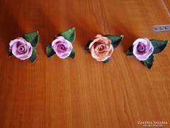 4 db Herendi porcelán rózsa