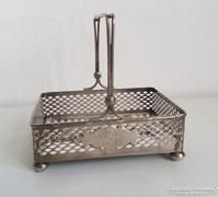 Áttört ezüst szögletes kínáló 150 gr.