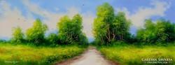 Nyári emlék Obermayer festmény