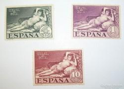 Meztelen Maya sor spanyol, régi bélyegek