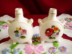 Kalocsai porcelán kulacs 8,5 cm magas