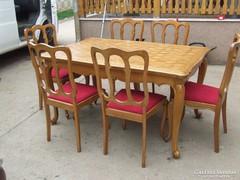 Étkezőgarnitúra asztal 6db szék