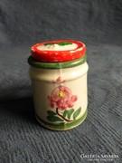 Régi kis miniatűr porcelán korsó tetővel