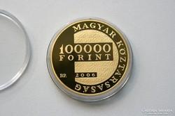 1956-os 50.évforduló 100.000Ft arany emlékérem