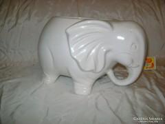 Elefánt formájú kaspó - kerámia