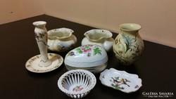 Gyönyörű Zsolnay, herendi, hollóházi porcelán csomag