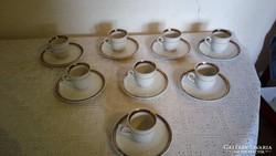 Kávéscsészék alátéttel.Ritkaság