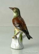 0K202 Régi Meisseni porcelán madár talapzaton