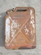 Német II. világháborús petróleumos benzines  kanna kaniszter