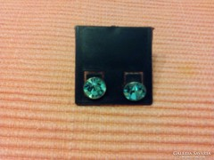 925 Ezüst fülbevaló kékszínű kristállyal