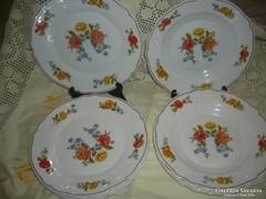 11 db régi  francia arcopal  tejüveg tányér