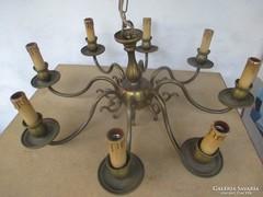 Csodálatos 8 ágú bronz csillár