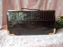 Vintage krokodilbőr Gasparini kézitáska