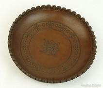 0L706 Bőrdíszmű falidísz tányér 19 cm