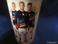 Ritka német futball  csésze bögre szignóval  A061