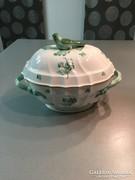 6 személyes Herendi  porcelán leveses tál