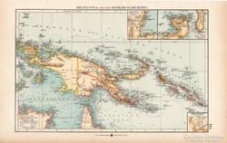 Új - Guinea és Bismarck - sziegetek térkép 1904, eredeti