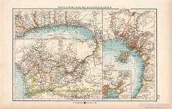 Nyugat - Afrika térkép 1904, kolónia, gyarmat, eredeti