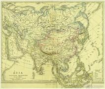 0L616 Antik acélmetszet térkép ÁZSIA