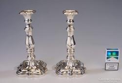 Ezüst antik gyertyatartópár