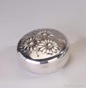 Ezüst virágos ékszerdoboz