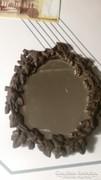 Régi öntött vas metszett tükörrel