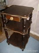 2 db Asztalka telefon,pipere fiókos polcos teázó kávézó