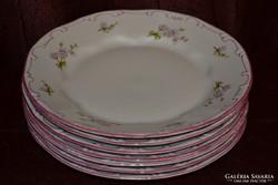 7 db lila tollazott Zsolnay barackvirágos tányér ( DBZ 0082)